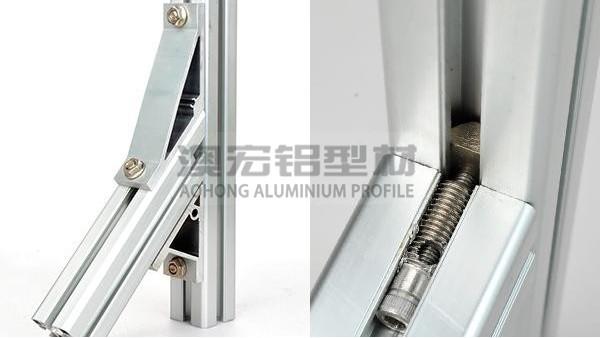 如何在铝型材框架中安装角件