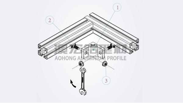 安装铝型材框架如何选择角件