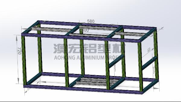 关于铝型材框架组装图纸