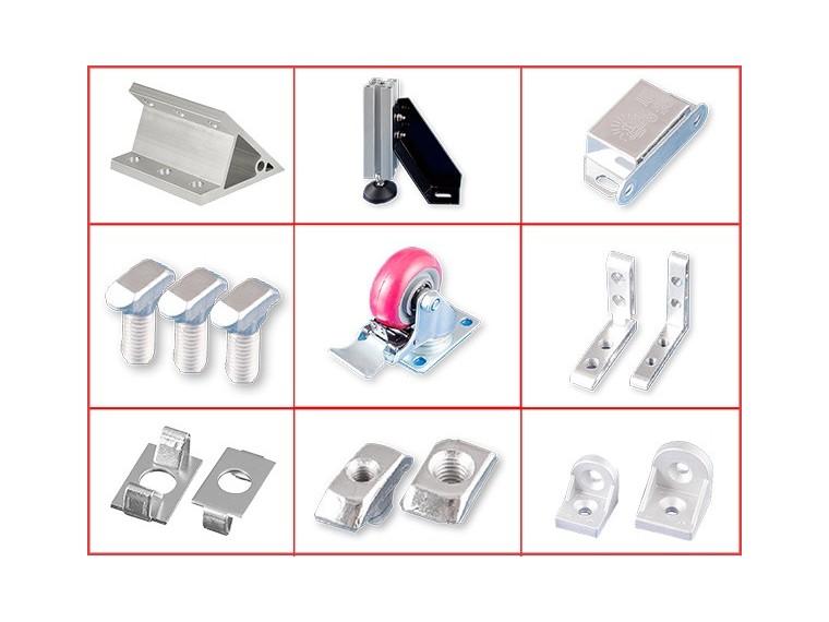工业铝型材配件在铝型材框架上作用