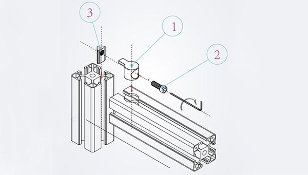 内置连接件安装示意图