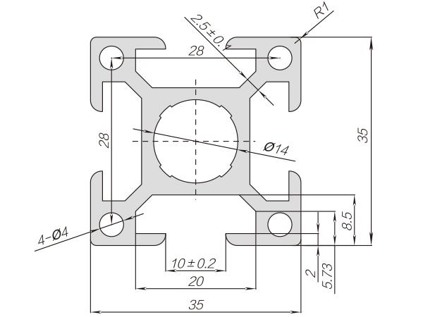 35系列铝合金型材 001 010 35 35