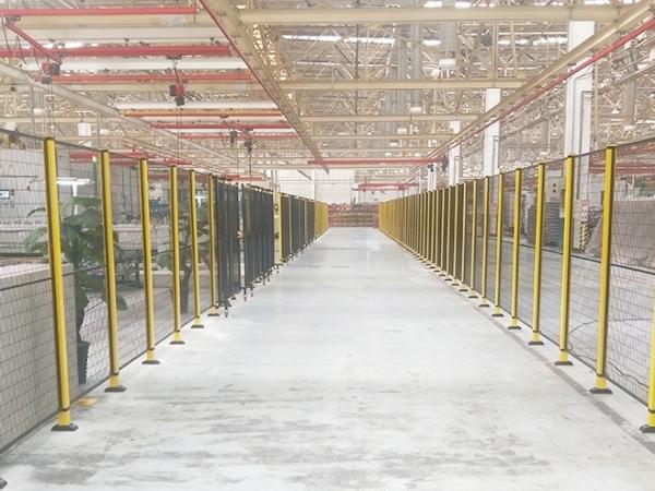 大型工厂分区隔离围栏