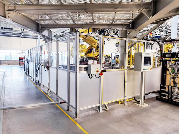 工业设备移动防护围栏