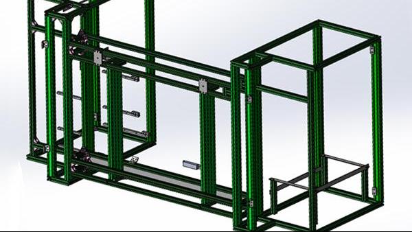 工业铝型材框架搭建的方法和步骤