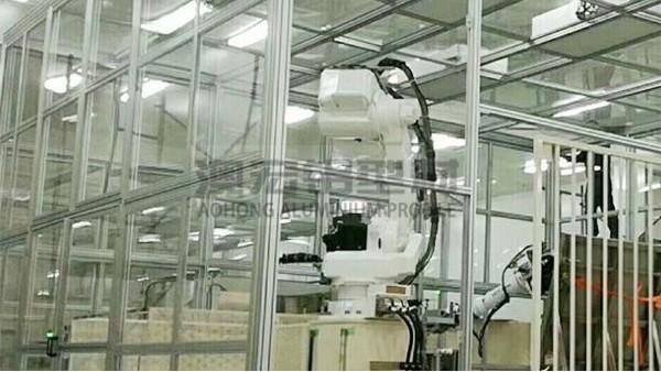 洁净棚铝型材框架的连接