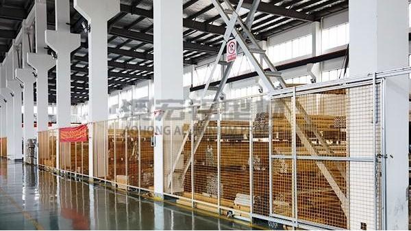 工厂生产车间隔离网铝型材选用