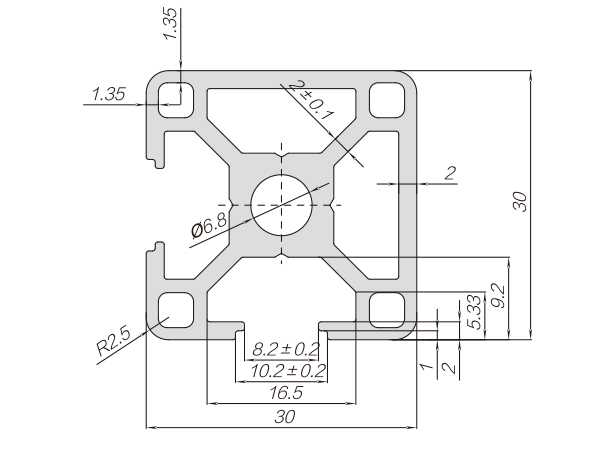 30系列铝合金型材-001-08-30-30N2-L