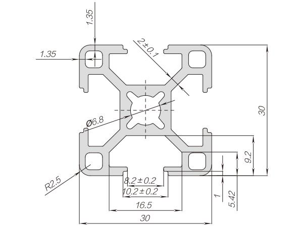 30系列铝合金型材-001-08-30-30X
