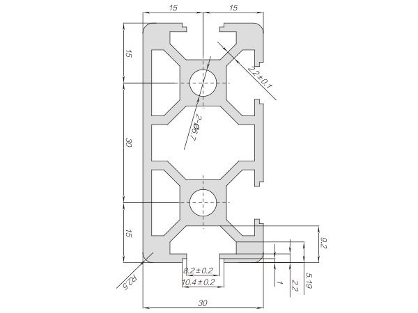 30系列铝合金型材-001-08-30-60N2-P