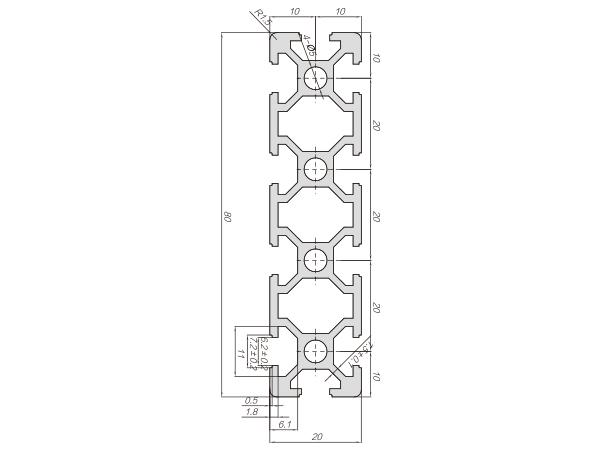 20系列铝合金型材-001-06-20-80参数