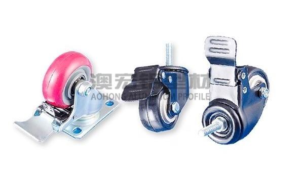 铝型材框架脚轮安装