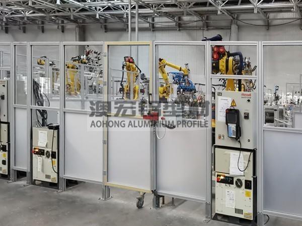 柔性屏生产线工业铝型材围栏
