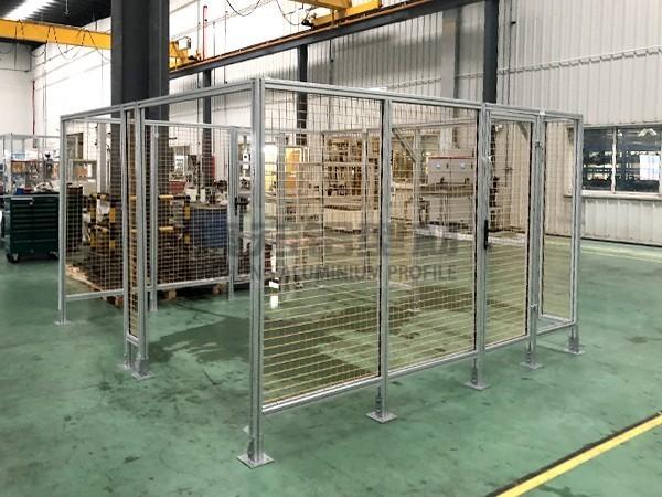 升降台铝型材围栏