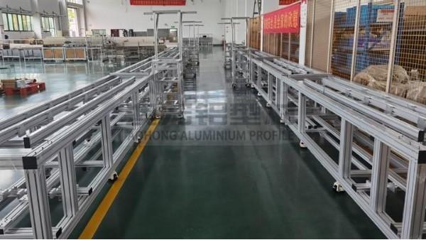 自动化流水线中铝型材皮带输送线定制