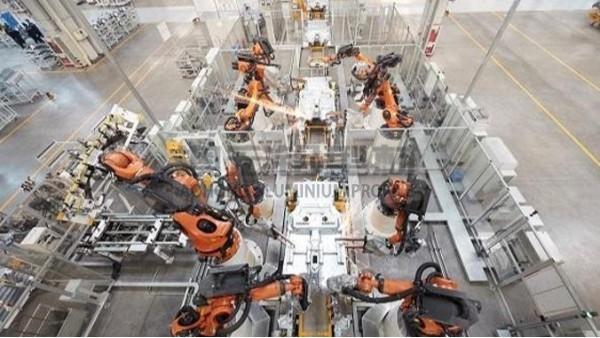 汽车生产企业中的铝型材框架应用