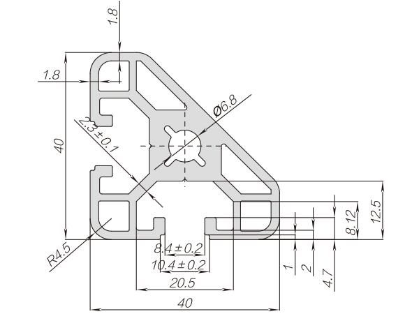 40系列铝合金型材 001 08 40 40C