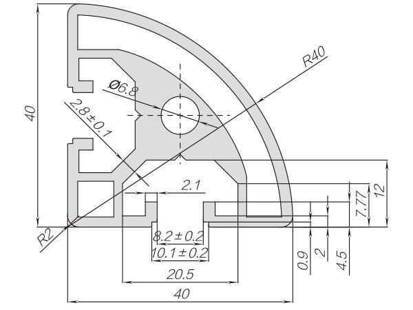40系列铝合金型材 001 08 40 40R