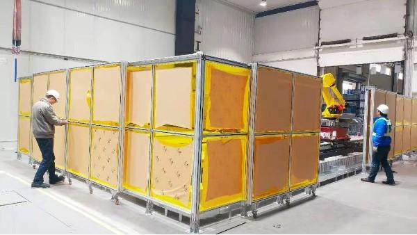 铝型材车间隔断围栏-上海澳宏铝业一站式解决方案厂家