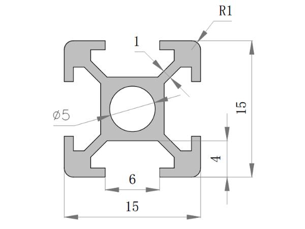 16系列铝合金型材 001 05 16 16