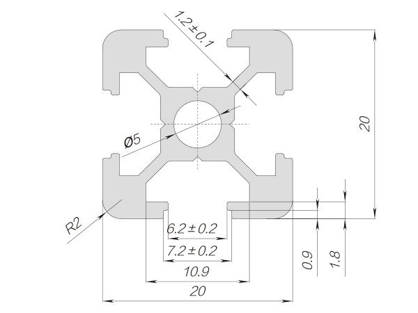 20系列铝合金型材-001-06-20-20参数