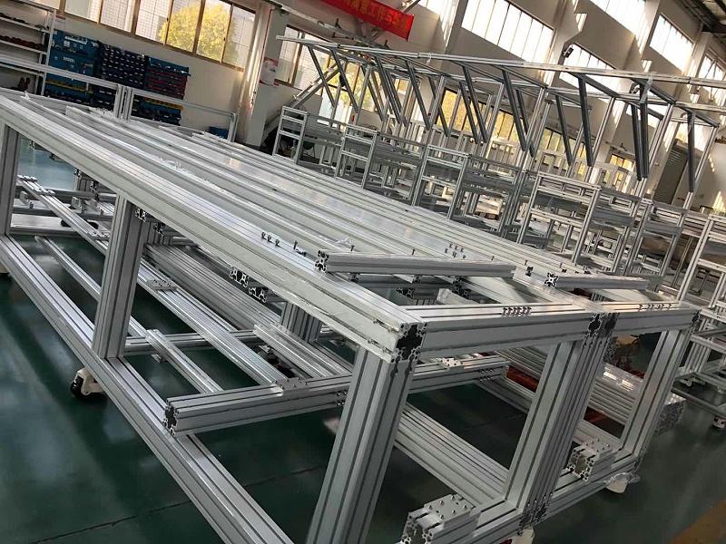 工业铝合金型材框架连接方式