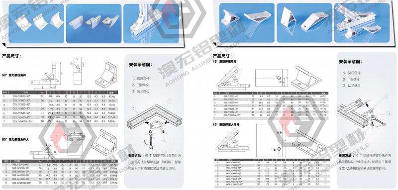 铝型材链接角件