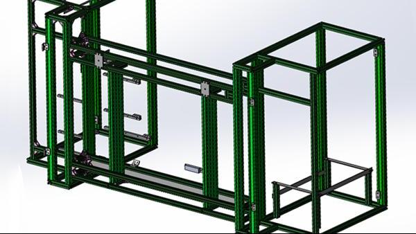 铝型材框架组装图纸问题