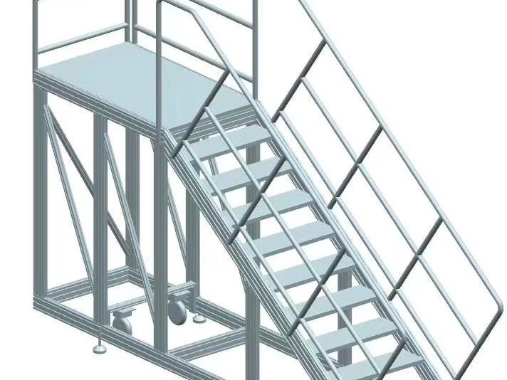 铝型材车间桥架踏步