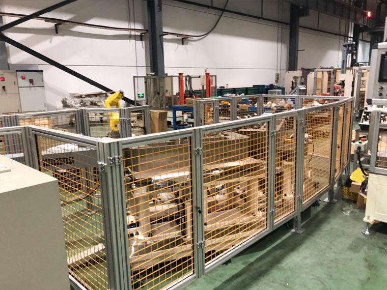 澳宏机器人安全围栏易拆装,安全坚固