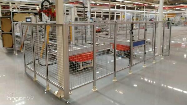 铝型材车间隔离护栏用在工业上的优点-澳宏铝业