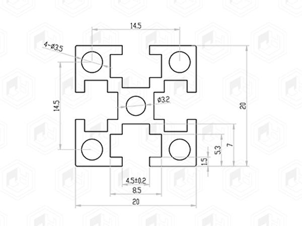 62系列铝合金型材(国标) 001 08 62 62G